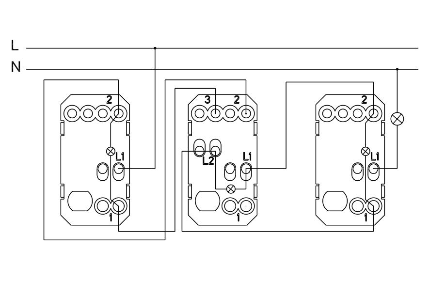 intermediate switch with locator light