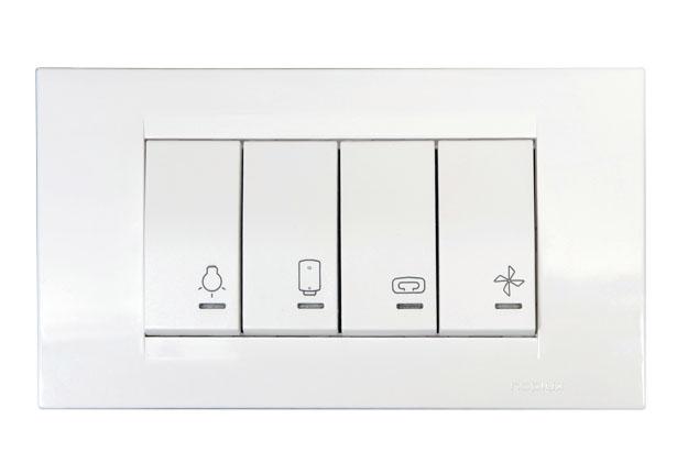 Bathroom switch light heater water heater fan 4m - Bathroom exhaust fan control switch ...