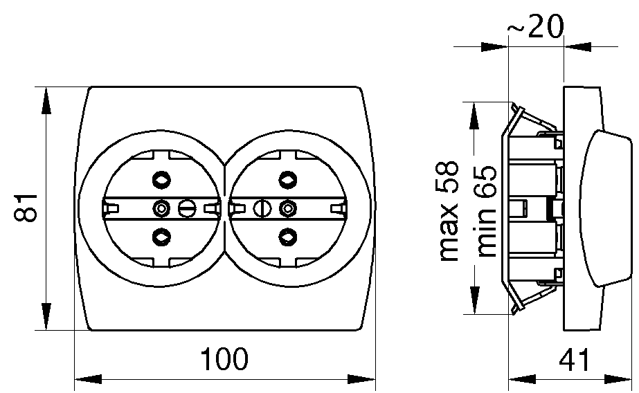 Socket Outlet Double
